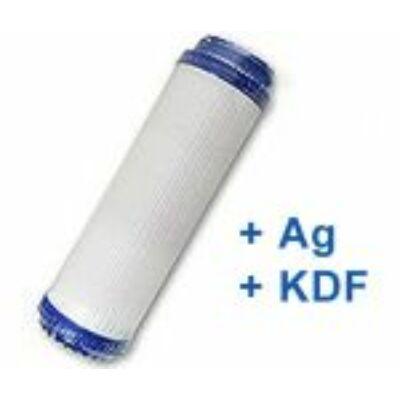 GAC aktívszén víztisztító előszűrő (+Ezüst+KDF)